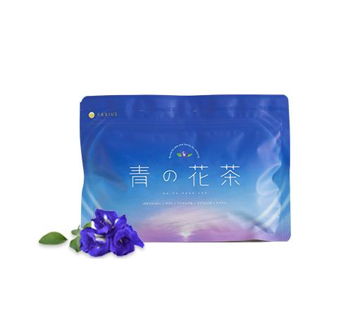 青い花茶画像